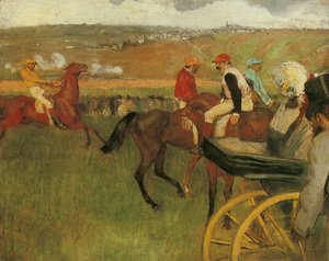 Edgar Degas - At the Races, Gentlemen Jockeys