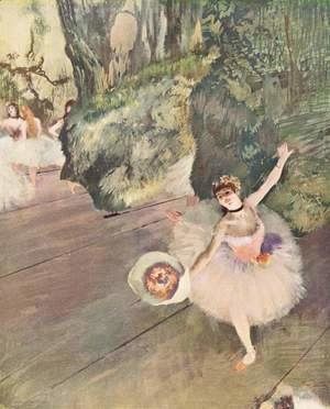 Edgar Degas - Dancer with a Bouquet of Flowers (Star of the Ballet), 1878