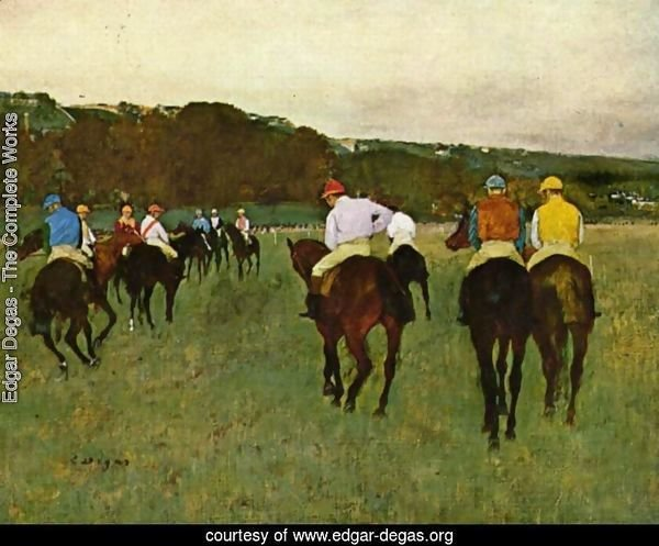 Horseracing in Longchamps, 1873-1875