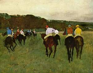 Edgar Degas - Horseracing in Longchamps, 1873-1875
