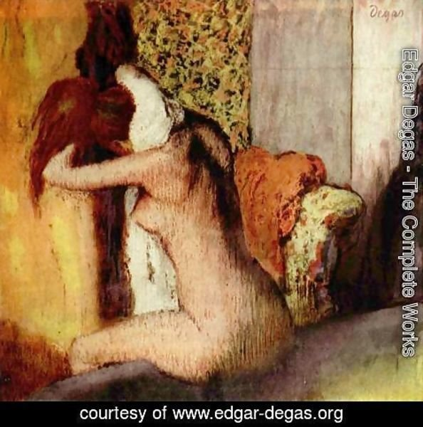 Edgar Degas - After the Bath, 1898