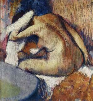 Edgar Degas - Woman Frottieren, 1896-1898