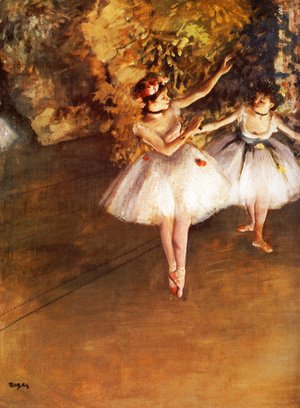 Edgar Degas - Two Dancers on a Stage, c.1874