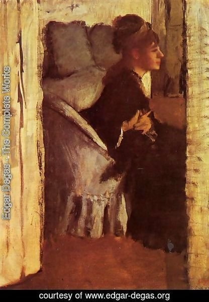 Edgar Degas - Woman putting on gloves