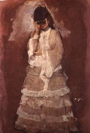 Lady with Opera Glasses, 1875-76