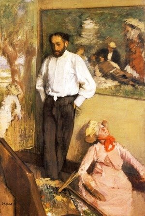 Edgar Degas - Portrait of Henri Michel-Levy in his studio, 1879