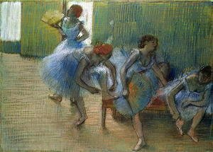 Edgar Degas - Dancers on a Bench, c.1898