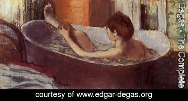 Edgar Degas - Woman in her Bath, Sponging her Leg, c.1883