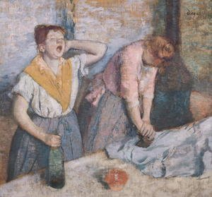 Edgar Degas - The Laundresses, c.1884