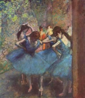Edgar Degas - Dancers in blue, 1890