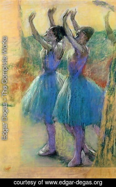 Edgar Degas - Two Blue Dancers