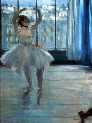 Edgar Degas - Dancer in Front of a Window (Dancer at the Photographer's Studio) c.1874-77