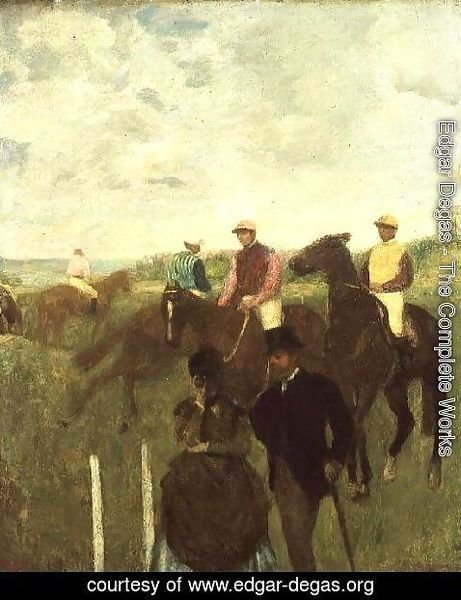 Edgar Degas - Before the Races