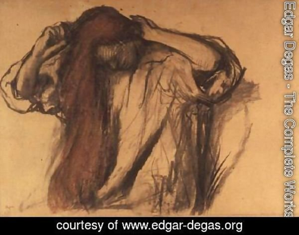 Edgar Degas - Woman combing her hair 2