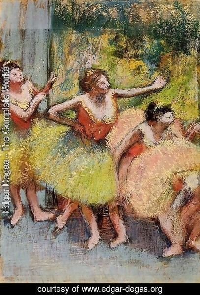 Edgar Degas - Dancers in Lemon and Pink