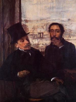 Self Portrait with Evariste de Valernes (1816-96) c.1865