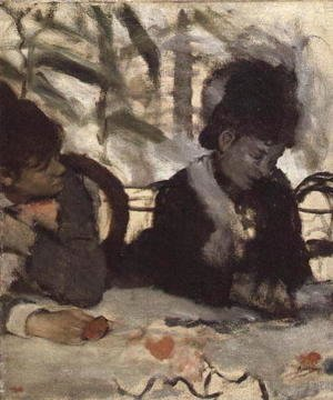 Edgar Degas - At the Cafe, c.1875-77