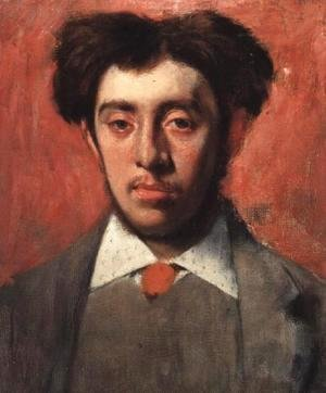 Edgar Degas - Portrait of Albert Melida