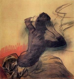 Edgar Degas - Seated Woman Adjusting Her Hair, c.1884