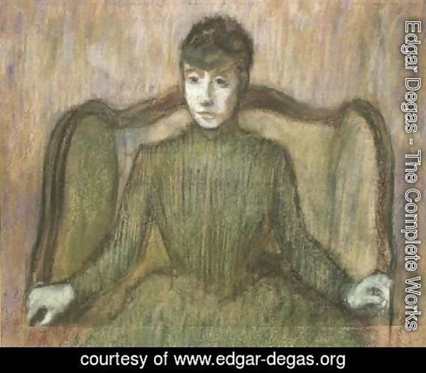 Edgar Degas - Woman Sitting in an Armchair, c.1864