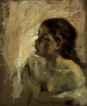 Edgar Degas - Study of a Girl's Head, late 1870s