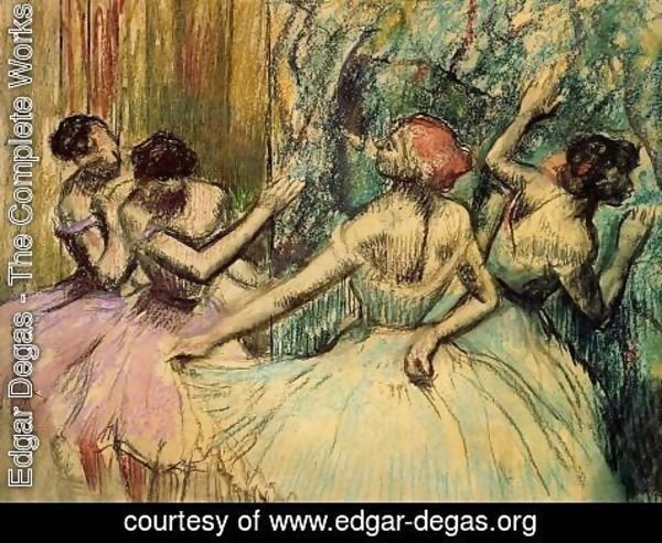 Edgar Degas - Dancers in the Wings, c.1899