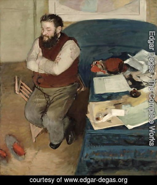 Edgar Degas - Portrait of Diego Martelli, 1879