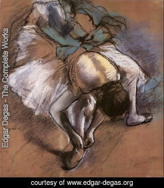 Edgar Degas - Dancer Fastening her Pump, c.1880-85