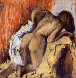 Edgar Degas - Woman Drying Herself, c.1890-95