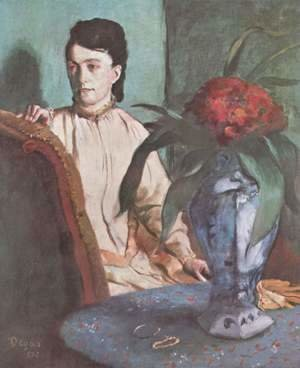 Edgar Degas - Woman with the Oriental Vase, 1872