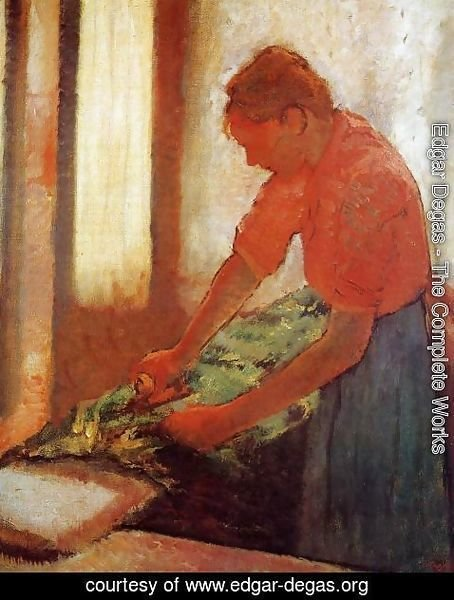 Edgar Degas - Woman Ironing, c.1885