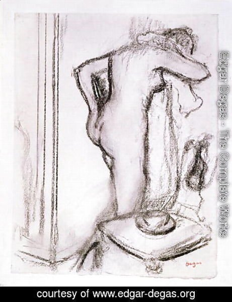 Edgar Degas - Woman at her Toilet, c.1890