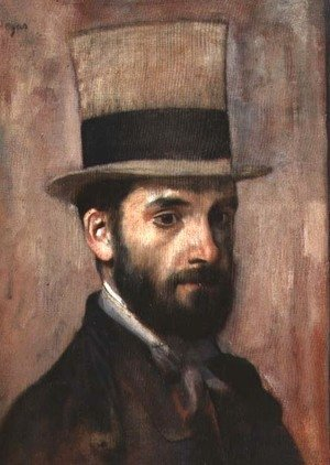 Edgar Degas - Portrait of Leon Bonnat (1833-1922) c.1863