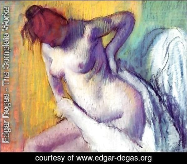 Edgar Degas - Woman drying herself 3