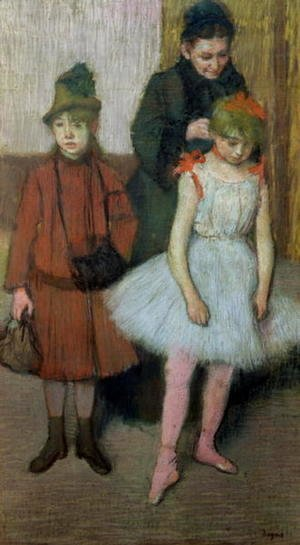 Edgar Degas - Woman with two little girls