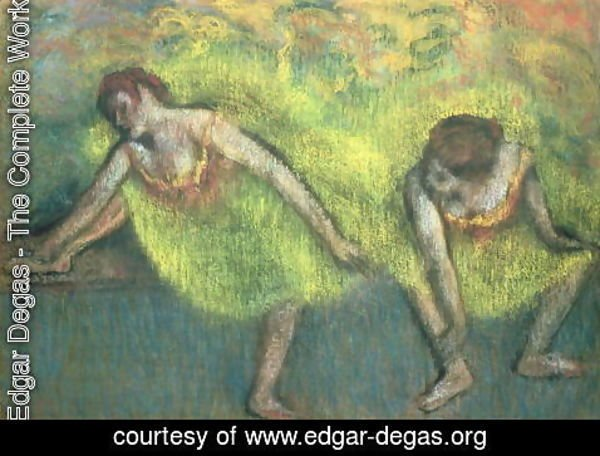 Edgar Degas - Two dancers relaxing