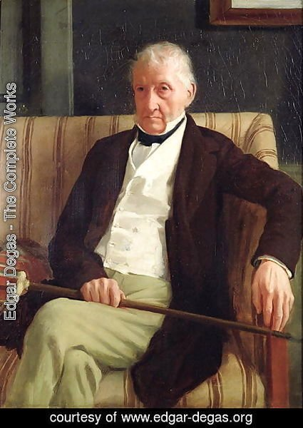 Portrait of Hilaire Degas (1770-1858), grandfather of the artist, 1857