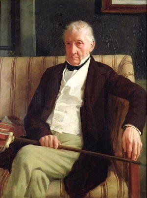 Edgar Degas - Portrait of Hilaire Degas (1770-1858), grandfather of the artist, 1857