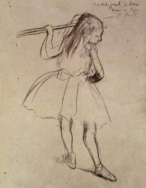 Edgar Degas - Girl Dancer at the Barre, c.1878
