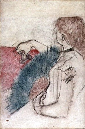 Edgar Degas - At the Theatre, Woman with a Fan, 1880