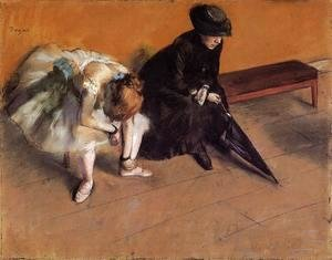 Edgar Degas - Waiting, c.1882