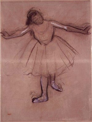 Edgar Degas - Front-view of Dancer, c.1877