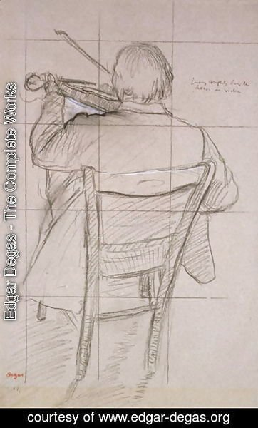 Edgar Degas - Study of a Violinist Seen from the Back