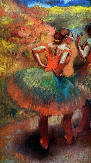 Edgar Degas - Dancers Wearing Green Skirts, c.1895