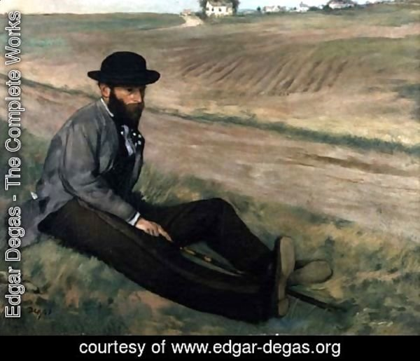Edgar Degas - Portrait of Eugene Manet
