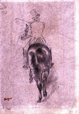 Edgar Degas - Huntsman on a Horse