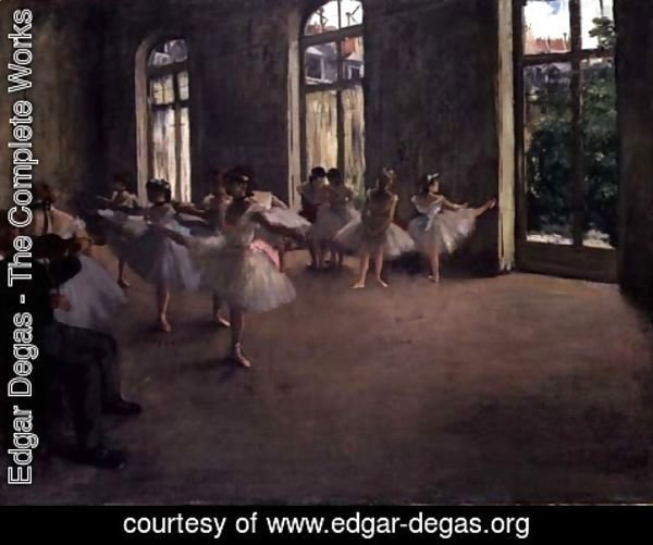 Edgar Degas - The Rehearsal, c.1873-78