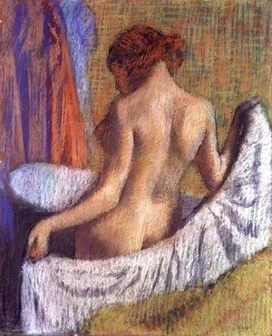 Edgar Degas - After the Bath, woman with a Towel, c.1885-90