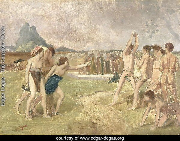 Study for - The Young Spartans Exercising, c.1860-61
