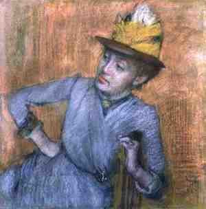 Edgar Degas - Seated Woman, 1887